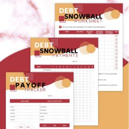 To start debt-free living, check out this FREE Printable Debt Snow Worksheet Set! #fhdhomeschoolers #freehomeschooldeals #hsdays #debtfreeliving #hsmoms