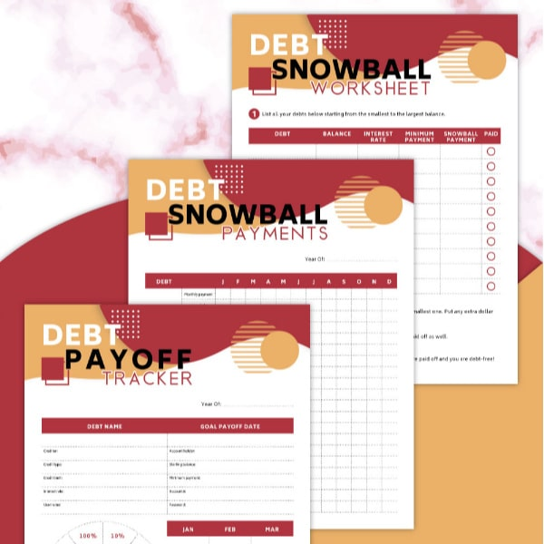 To start debt-free living, check out this FREE Printable Debt Snow Worksheet Set! #fhdhomeschoolers #freehomeschooldeals #hsdays #debtfreeliving #hsmoms