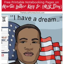 MLK Day FREE Printable Notebooking Pages.