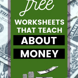 List of FREE Worksheets All About Money.