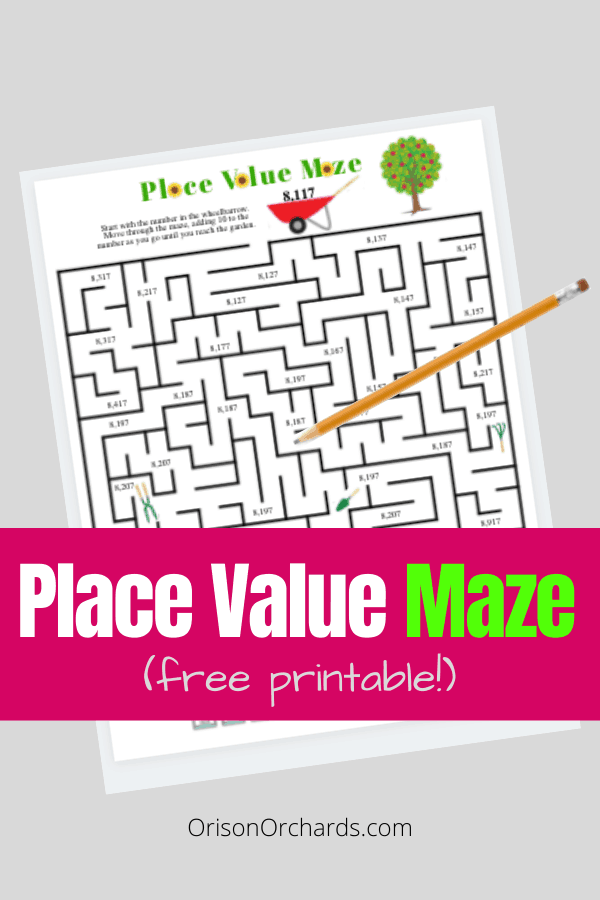 FREE Place Value Printable Maze, #fhdhomeschoolers #freehomeschooldeals #placevaluemaze