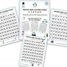 To build up multiplication and division skills, check out these FREE Winter Skip Counting Pages! #fhdhomeschoolers #freehomeschooldeals #homeschoolmath #skipcounting #homeschoolers #teachingmath