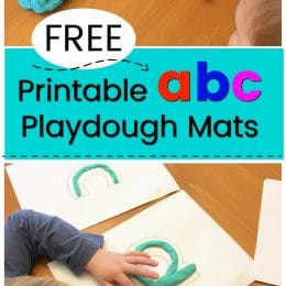 FREE Playdough Mats to Learn the Alphabet. #fhdhomeschoolers #freehomeschooldeals #alphabetplaydoughmats