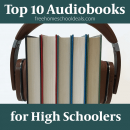 To give your young adult hours of listening fun, check out these Top 10 Audiobooks for High Schoolers! #fhdhomeschoolers #freehomeschooldeals #highschoolers #audiobooks #hsmoms