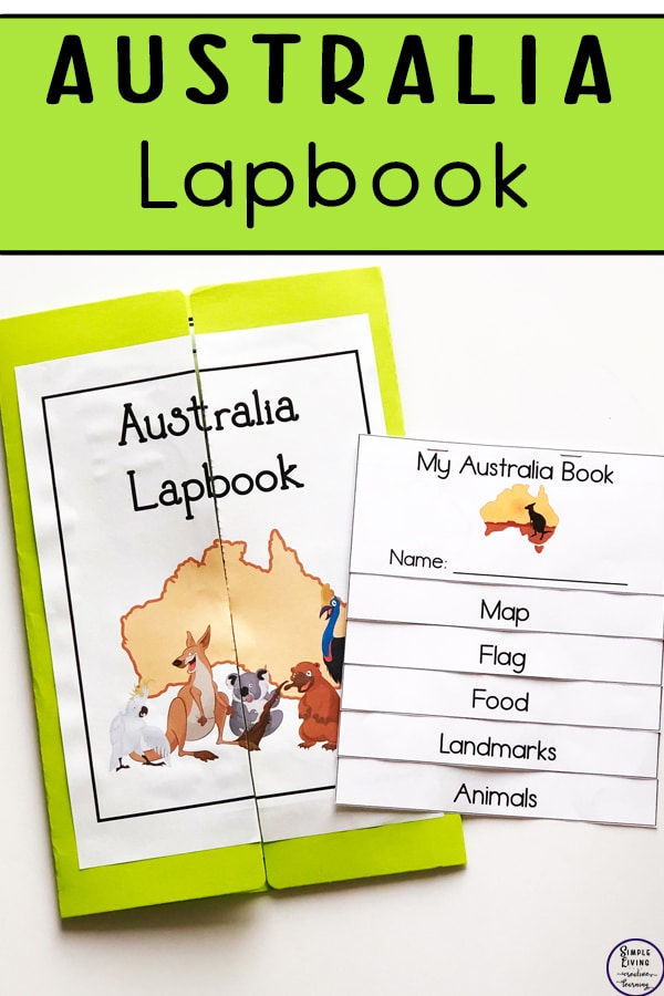For a unique geographical study, check out this FREE Australia Lapbook + Flip Book! #fhdhomeschoolers #freehomeschooldeals #australia #hsgeography #hsdays