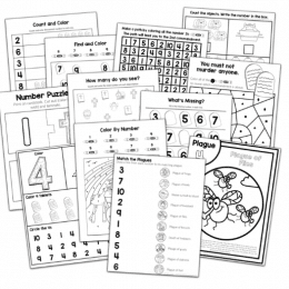 FREE Bible-Themed Number Charts. #fhdhomeschoolers #freehomeschooldeals #Biblenumbercharts
