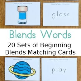 Consonant Blends Matching Cards.