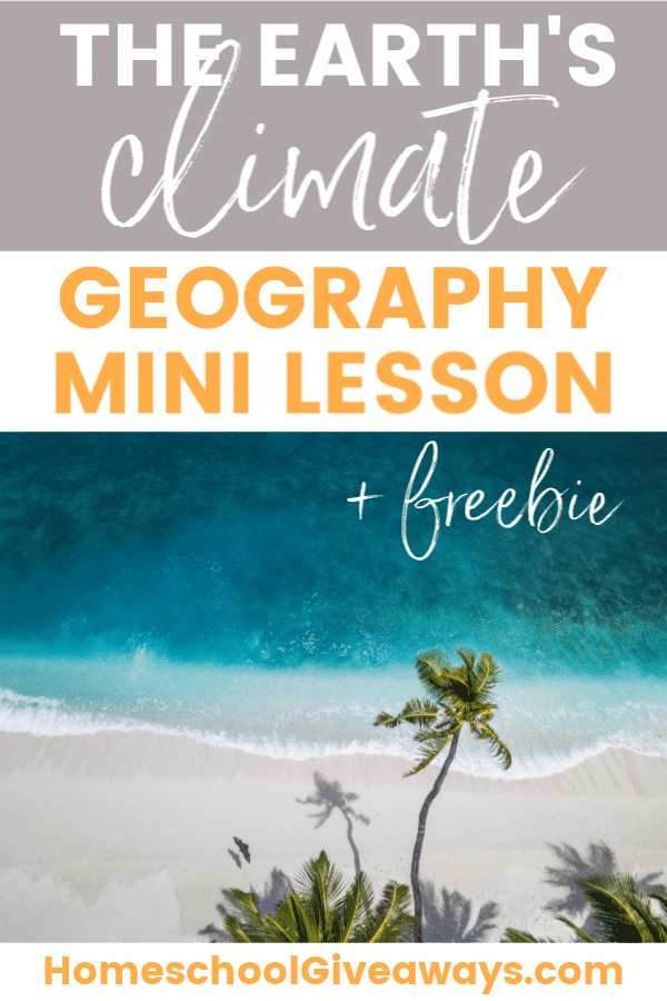 FREE Geography Mini Lesson.#fhdhomeschoolers #freehomeschooldeals #climatezonelesson #geographylesson