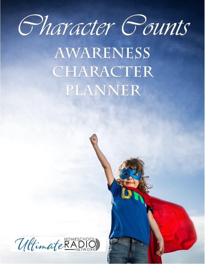 Character Counts FREE Planner. #charactercountsplanner #fhdhomeschoolers #freehomeschooldeals