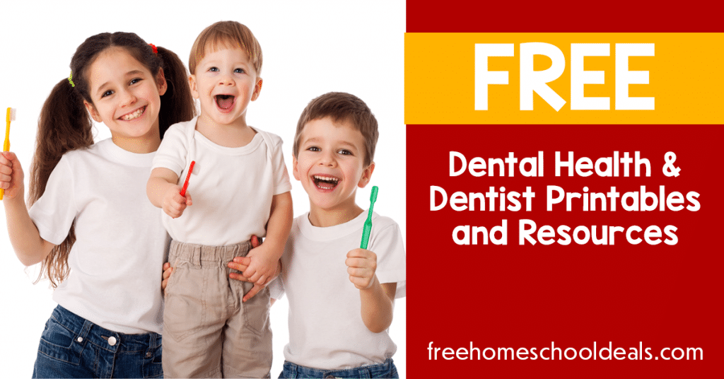 For Dental Health Month, check out these FREE Dentist/Dental Printables for February! #fhdhomeschoolers #freehomeschooldeals #dentalhealthmonth #hsdays #homeschooling