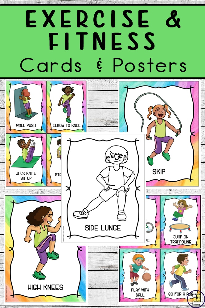 For exercise inspiration on those winter days, check out these FREE Exercise & Fitness Cards & Posters! #fhdhomeschoolers #freehomeschooldeals #homeschooling #exercise #hsdays