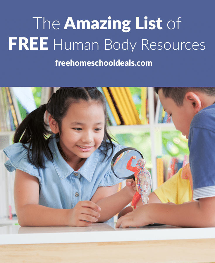 For biology this year, look no further! Check out The Amazing List of FREE Human Body Resources! #fhdhomeschoolers #freehomeschooldeals #biologylessons #hsdays #hsscience