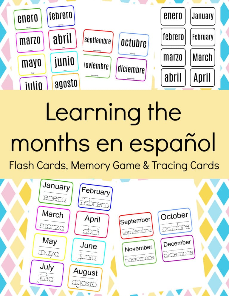 FREE resources for learning the months in Spanish.  #fhdhomeschoolers  #freehomeschooldeals #monthsinSpanish #spanishmonthsoftheyear