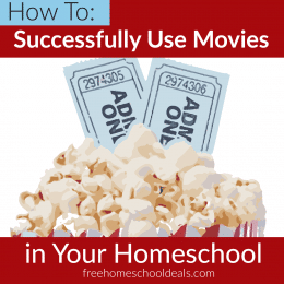 If you want to use movies in your homeschool, but need ideas, check out How to Successfully Use Movies in Your Homeschool! #fhdhomeschoolers #freehomeschooldeals #moviestudy #hsdays #hsideas