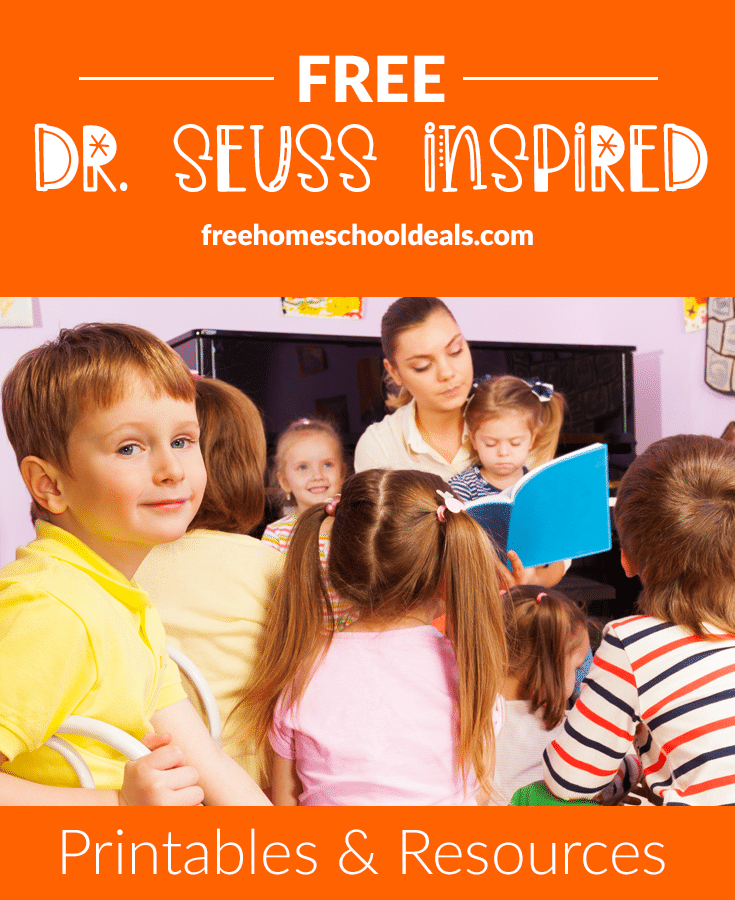 This March, to celebrate Dr. Seuss' Birthday, check out these FREE Dr. Seuss-Inspired Printables & Resources! #fhdhomeschoolers #freehomeschooldeals #drseuss #reading #homeschoolinglife