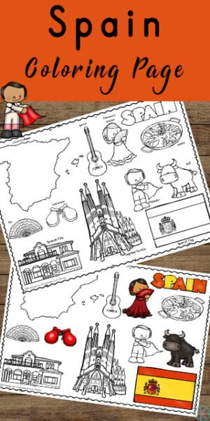 FREE Coloring Pages for Spain. #fhdhomeschoolers #freehomeschooldeals #Spaincoloringpages