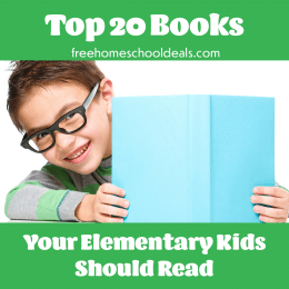 Check out this list of classics with the Top 20 Books Your Elementary Student Should Read! #fhdhomeschoolers #freehomeschooldeals #homeschoolreading #hsmoms #elementaryreading