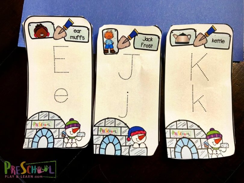 FREE Alphabet Tracing Cards for the Winter. #fhdhomeschoolers #freehomeschooldeals #alphabettracingcards