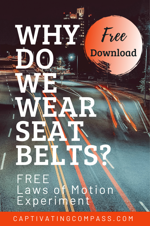 For your lovely inquisitive young learners, check out this FREE Science Experiment: Why Do We Wear a Seat Belt? #fhdhomeschoolers #freehomeschooldeals #homeschoolscience #hsmoms #drivingsafety
