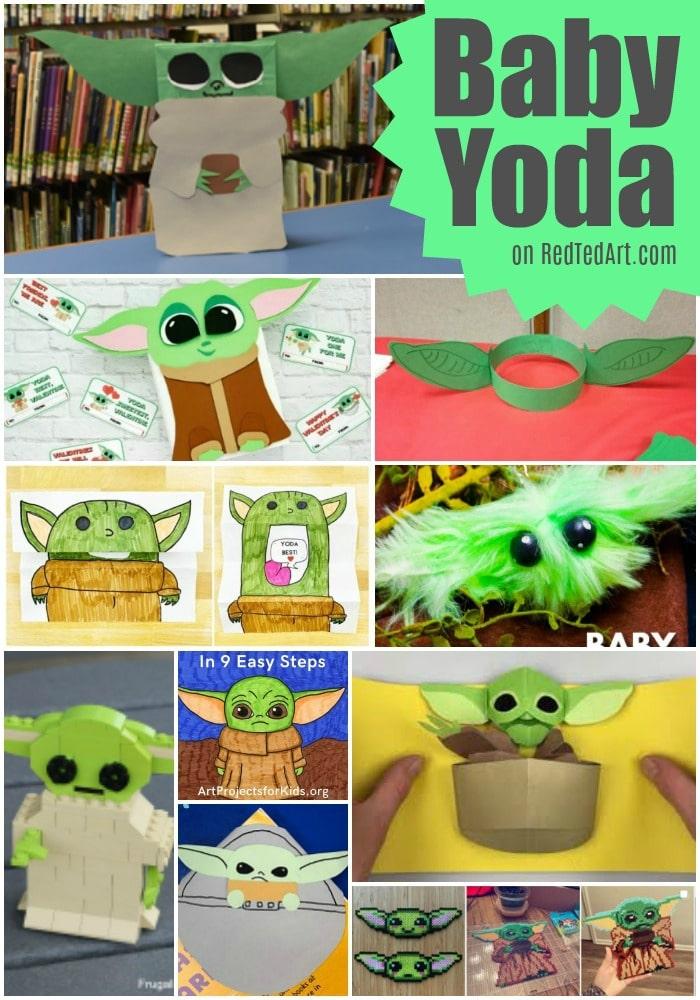 Adorable Baby Yoda DIYs and Crafts. #freehomeschooldeals #fhdhomeschoolers #babyyodacrafts #babyyodaresource #babyyodaDIYs
