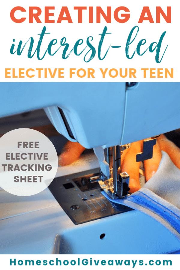 FREE Elective Tracking Sheet. #highschoolelectives #interestledelectives #freehomeschooldeals #fhdhomeschoolers
