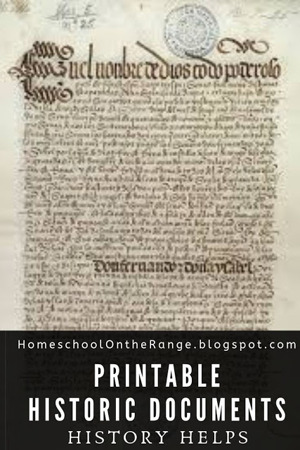 Make history come alive, grab this FREE Bundle of 40 Primary Source Documents (subscriber freebie)! #fhdhomeschoolers #freehomeschooldeals #primarysources #historylessons #hsdays