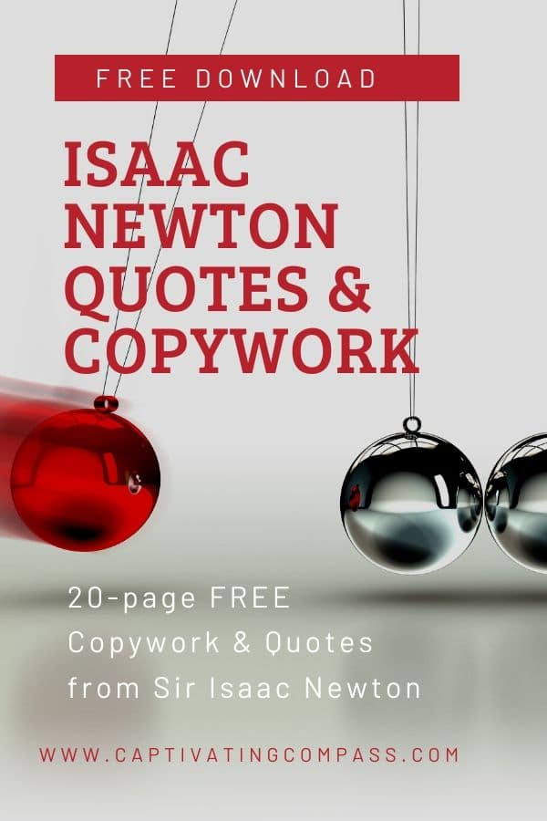 For science and literacy lessons, grab these FREE Isaac Newton Quotes & Copywork! #fhdhomeschoolers #freehomeschooldeals #isaacnewton #homeschoolscience #hsdays
