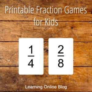 FREE Printable Fraction Games. #freehomeschooldeals #fhdhomeschoolers # fractiongames #funwithfractions