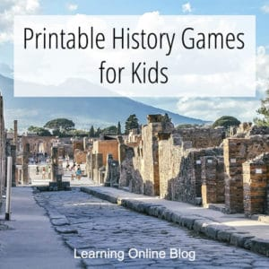 FREE Kids History Game Printables. #freehomeschooldeals #fhdhomeschoolers #historygames