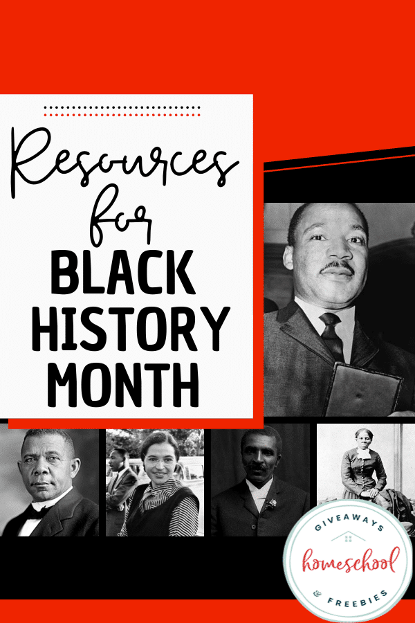 Black History Month Resources. #freehomeschooldeals #fhdhomeschoolers #BlackHistoryMonth