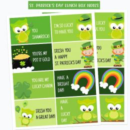 To brighten your child's day, grab these FREE St. Patrick's Day Lunch Notes! #fhdhomeschoolers #freehomeschooldeals #stpatricksday #hsideas #hsmoms