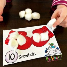 Winter FREE Hands-on Counting Practice. #freehomeschooldeals #fhdhomeschoolers #countingpractice #wintercountingactivity
