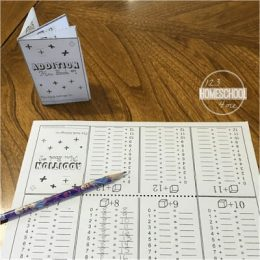 FREE Mini Addition Book. #additionworksheets #additionminibook #fhdhomeschoolers #freehomeschooldeals