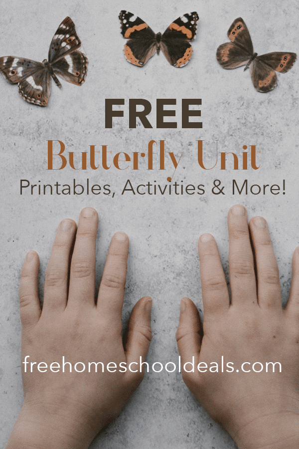 For great ideas for butterfly lessons, check out this FREE Butterfly Unit: Printables, Activities & More! #fhdhomeschoolers #freehomeschooldeals #butterflystudy #homeschoolscience #hsmoms