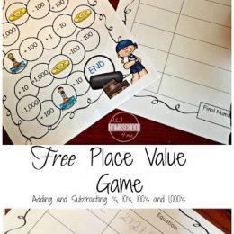 FREE Place Value Pirate Game. #piratetheme #placevalue