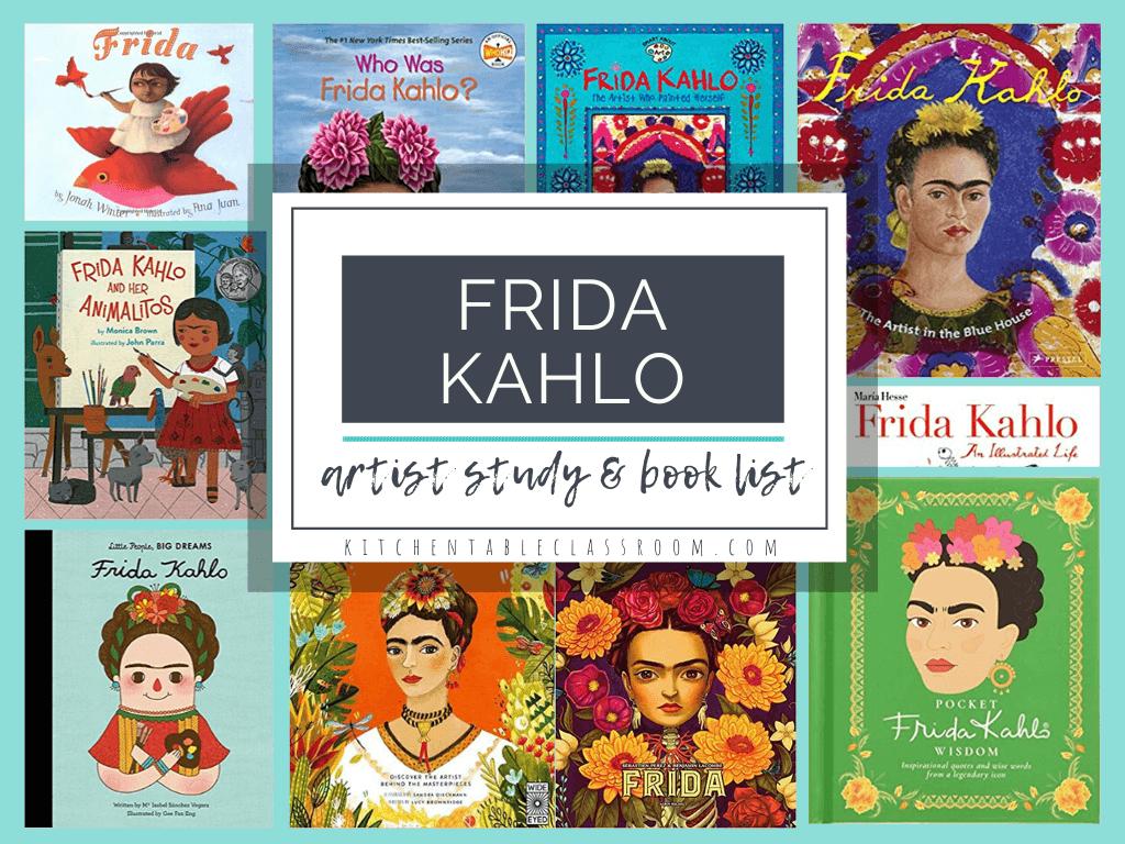 Frida Kahlo FREE Artist Study. #FridaKahloartiststudy #FridaKahlo #artiststudy #fhdhomeschoolers #freehomeschooldeals