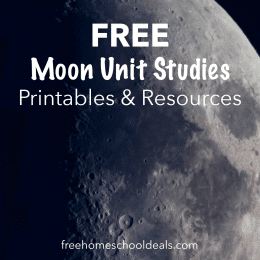 Create a whole unit on the moon with these FREE Moon Unit Studies, Printables, & Resources! #fhdhomeschoolers #freehomeschooldeals #moonstudies #hsscience #hsdays