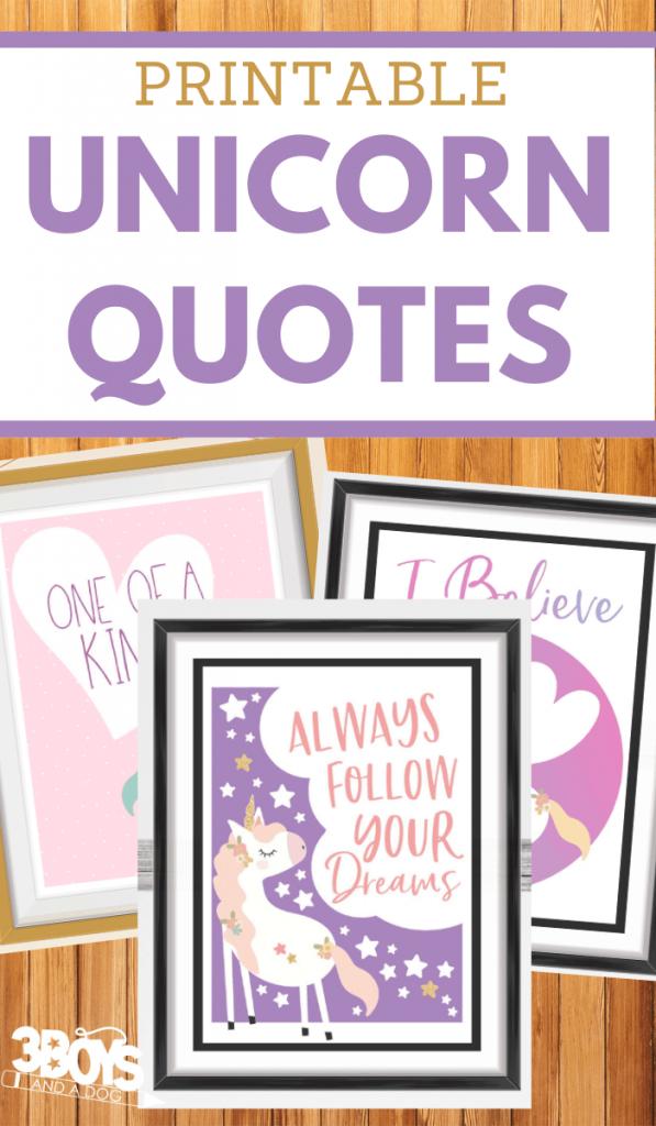 FREE Unicorn Quotes Printables. #unicornquotes #unicornprintables #fhdhomeschoolers #freehomeschooldeals