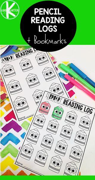 FREE Printable Pencil Reading Log. #pencilthemedreadinglog #readinglog #readingresources #freehomeschooldeals #fhdhomeschoolers