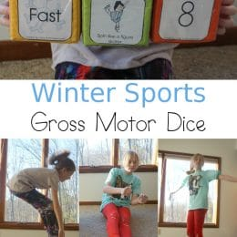 For a fun PE lesson, grab these FREE Winter Sports Gross Motor Dice! #fhdhomeschoolers #freehomeschooldeals #grossmotoractivities #homeschool #hsmoms