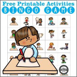 FREE activities bingo game. #freehomeschooldeals #fhdhomeschoolers #activitiesbingogame #activitybingo #boredombuster