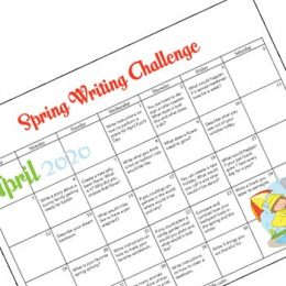 FREE April Writing Prompts Calendar. #fhdhomeschoolers #freehomeschooldeals #Aprilwritingprompts #writingpromptsforspring
