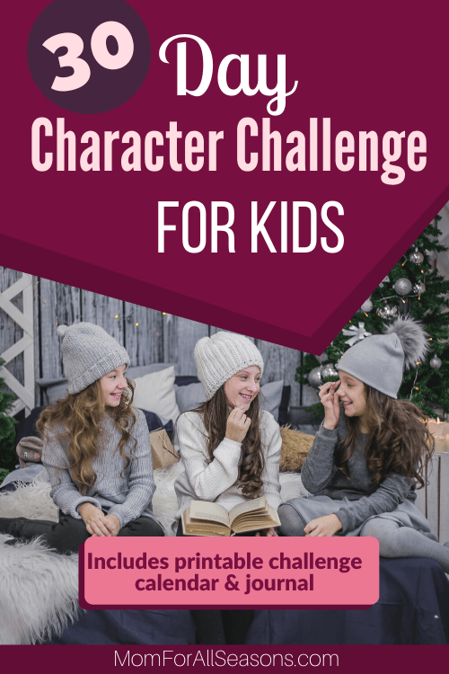 To include character lessons in your homeschool, grab this FREE 30-Day Character Challenge! #fhdhomeschoolers #freehomeschooldeals #goodcharacter #hsmoms #christianhomeschooling