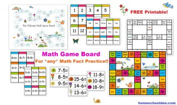 Who can't use a game at their homeschool? Grab these FREE Math Game Boards! #fhdhomeschoolers #freehomeschooldeals #homeschooling #hsmoms #mathgames