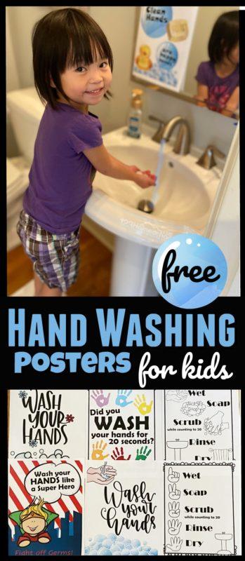 FREE Kids Handwashing Signs.  #fhdhomeschoolers #freehomeschooldeals #fightvirus #healthykids #handwashing #preventsickness