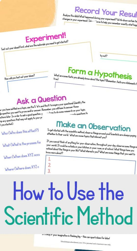 FREE Scientific Method Printable Pack. #fhdhomeschoolers #freehomeschooldeals #scientificmethod #criticalthinking