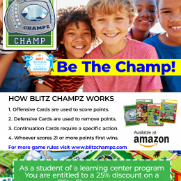 Right now, get 25% OFF Blitz Champz Football Math Game! #fhdhomeschoolers #freehomeschooldeals #mathgames #homeschoolmath #hsgames