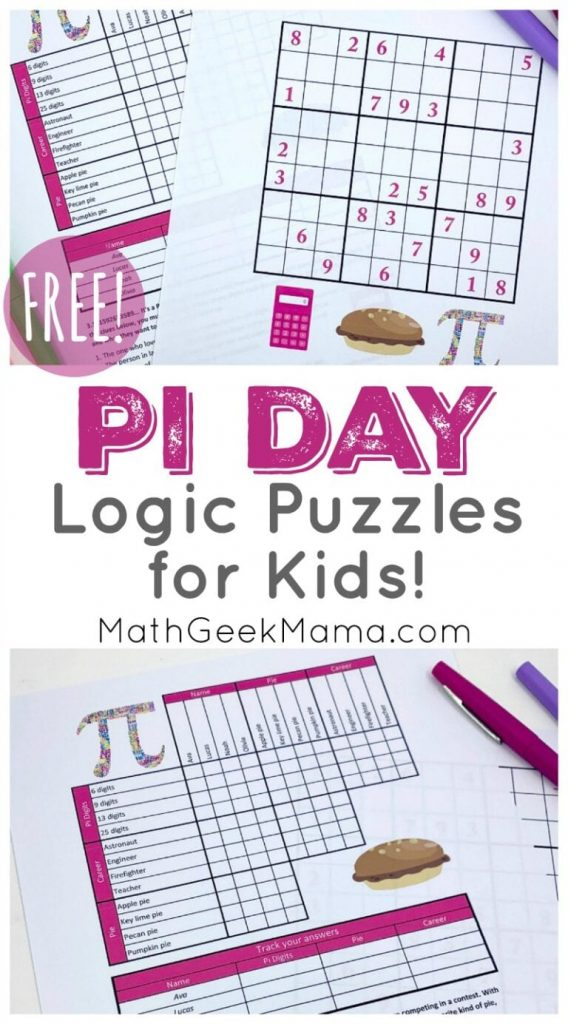 National Pi Day Logic Puzzles. #fhdhomeschoolers #freehomeschooldeals #PiDay #logicpuzzles