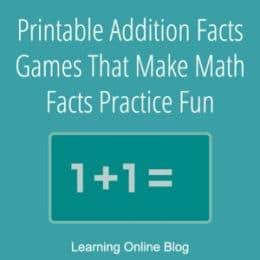 FREE Printable Addition Fact Games. #fhdhomeschoolers #freehomeschooldeals #additionfactgames #additionflashcards #mathfacts