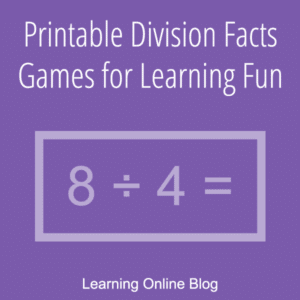 FREE Division Facts Games. #fhdhomeschoolers #freehomeschooldeals #divisionfacts #divisionfactsgames #divisionlearningfun